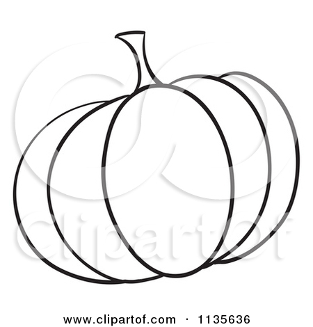 pumpkin outline clipart black and white christmas