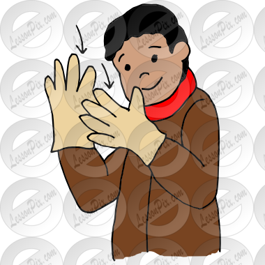 Picture For Classroom   Therapy Use   Great Put On Gloves Clipart