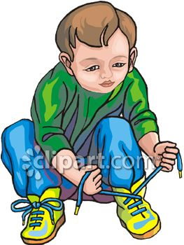 Put On Shoes Clipart