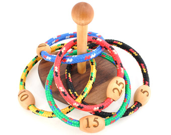 Ring Toss Sign Ring Toss Game   Wooden Game