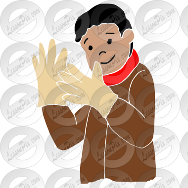 Stencil For Classroom   Therapy Use   Great Put On Gloves Clipart