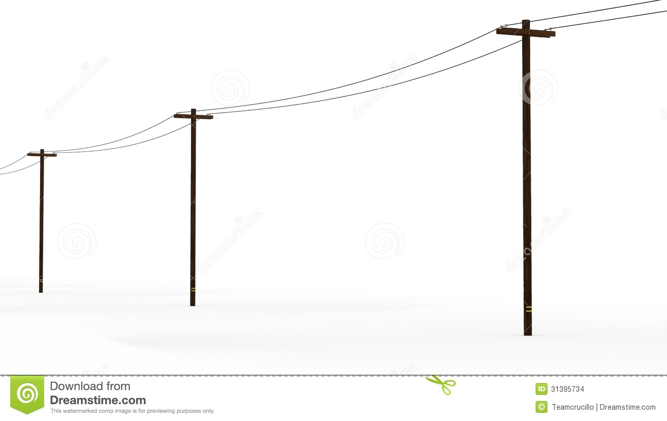 Telephone Pole Clipart 3d Rendered Power Poles Stock