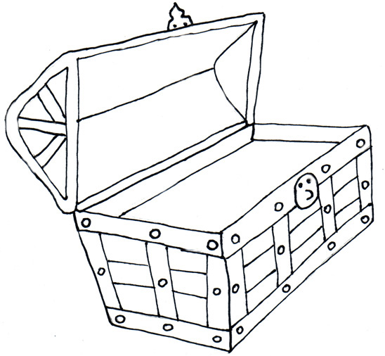 treasure chest coloring page - treasure box clipart clipart suggest