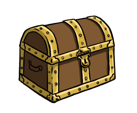 Treasure Chest Outline   Clipart Best