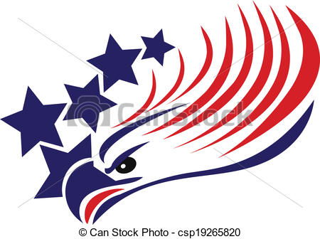 Usa Flag Eagle Clip Art Bald Eagle American Flag Logo
