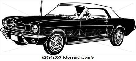 1964 Automobile Car Classic Ford Mustang Sport View Large