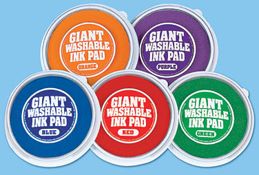 Bright Giant Washable Color Ink Pads   5 Color Set At Lakeshore