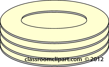 Com Clipart View Clipart Kitchen Stack Of Plates K0108 Jpg Htm