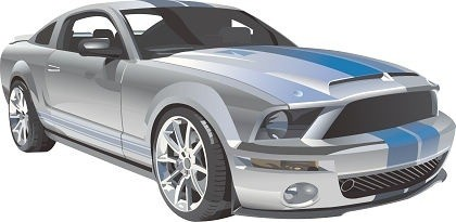 Free Ford Mustang Racing Vector Free Vector In Adobe Illustrator Ai