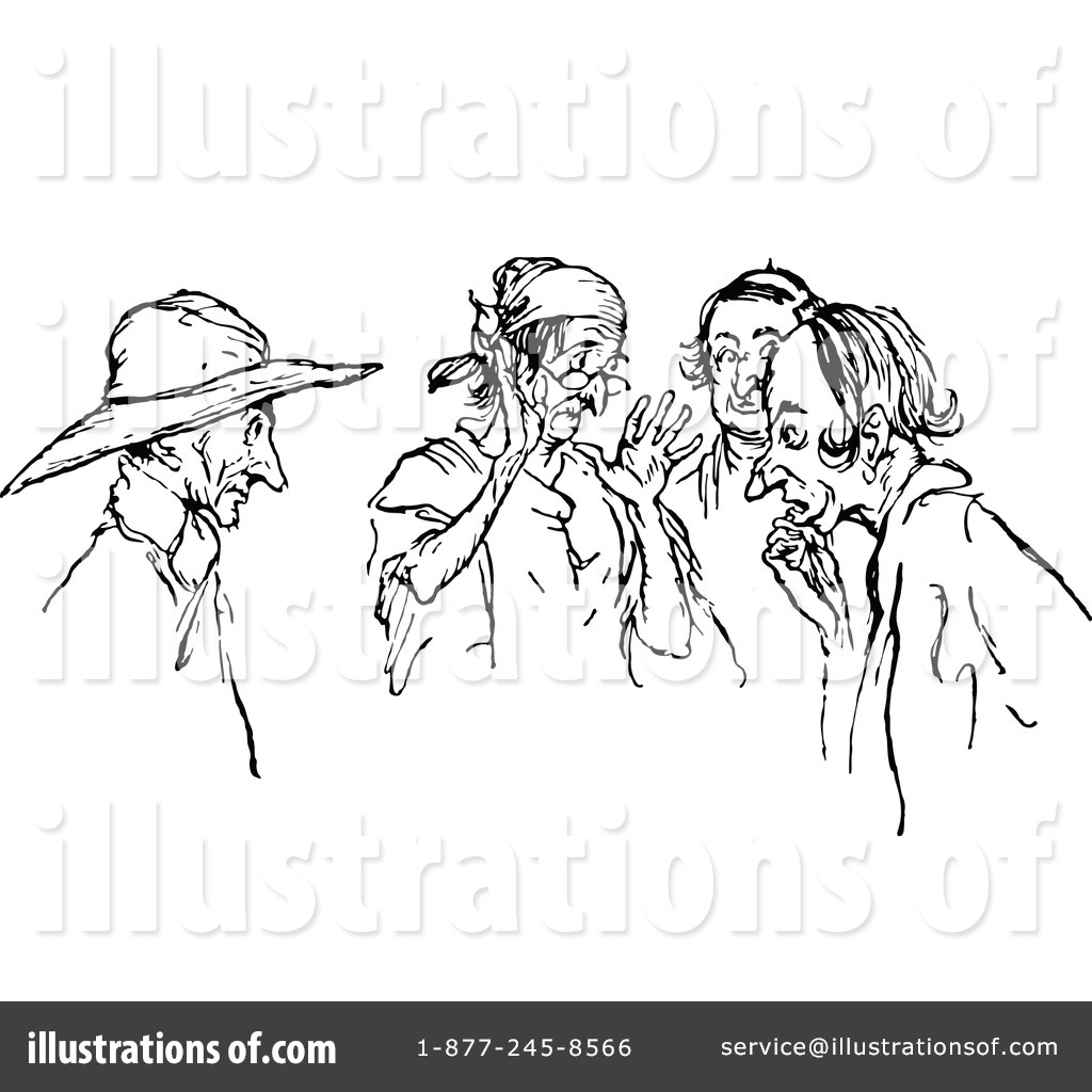 Gossip Clipart Illustration By Prawny Vintage   Stock Sample  1121476