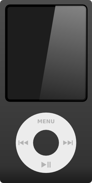 Ipod With Earbuds Clipart - Clipart Suggest
