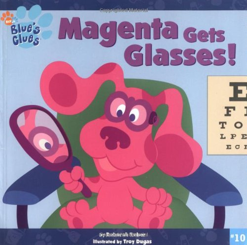 Magenta blue 39 s clues clipart clipart suggest for Blues clues magenta coloring pages