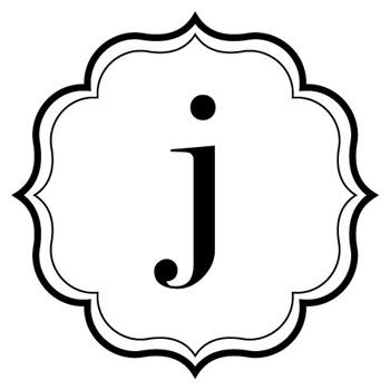 Monogram J Vinyl Decal   Custom Creations Vinyl Decals