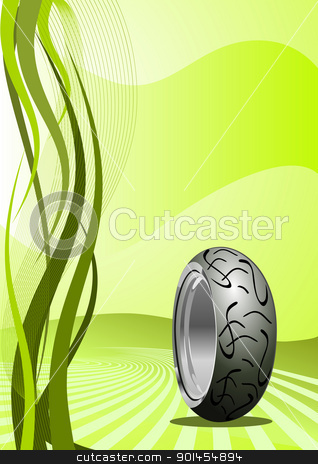 Motorcycle Tire Stock Vector Clipart Vector Motorcycle Tire On A
