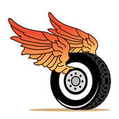 Motorcycle Tire With Wings Tattoo Car Tire Wings   Clipart