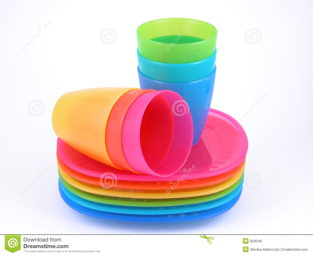Plastic Cups And Plates Royalty Free Stock Image   Image  829046