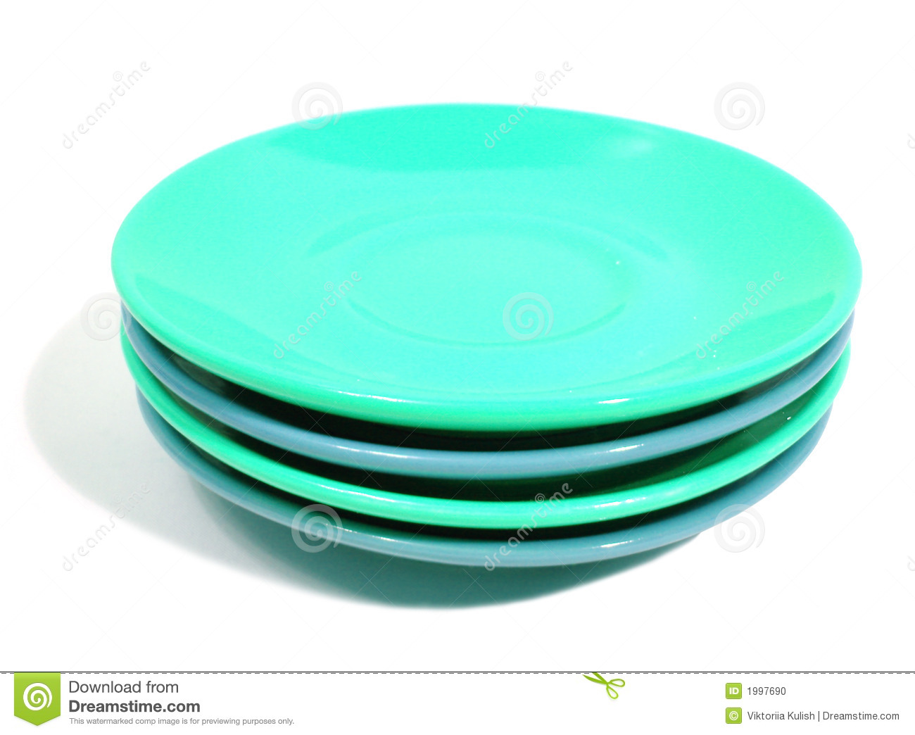 Plates Clipart Stack Green Blue Plates White Background 1997690 Jpg