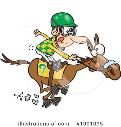 Race Horse Track Clip Art Clipart Illustration By