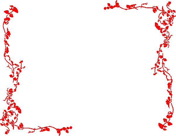 Red Vine Border Clip Art At Clker Com   Vector Clip Art Online