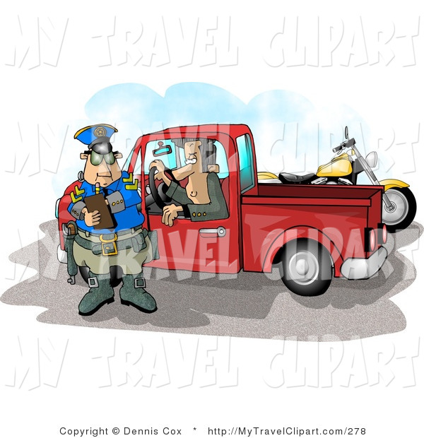 Royalty Free Clipart Of A Pulled Over Man In A