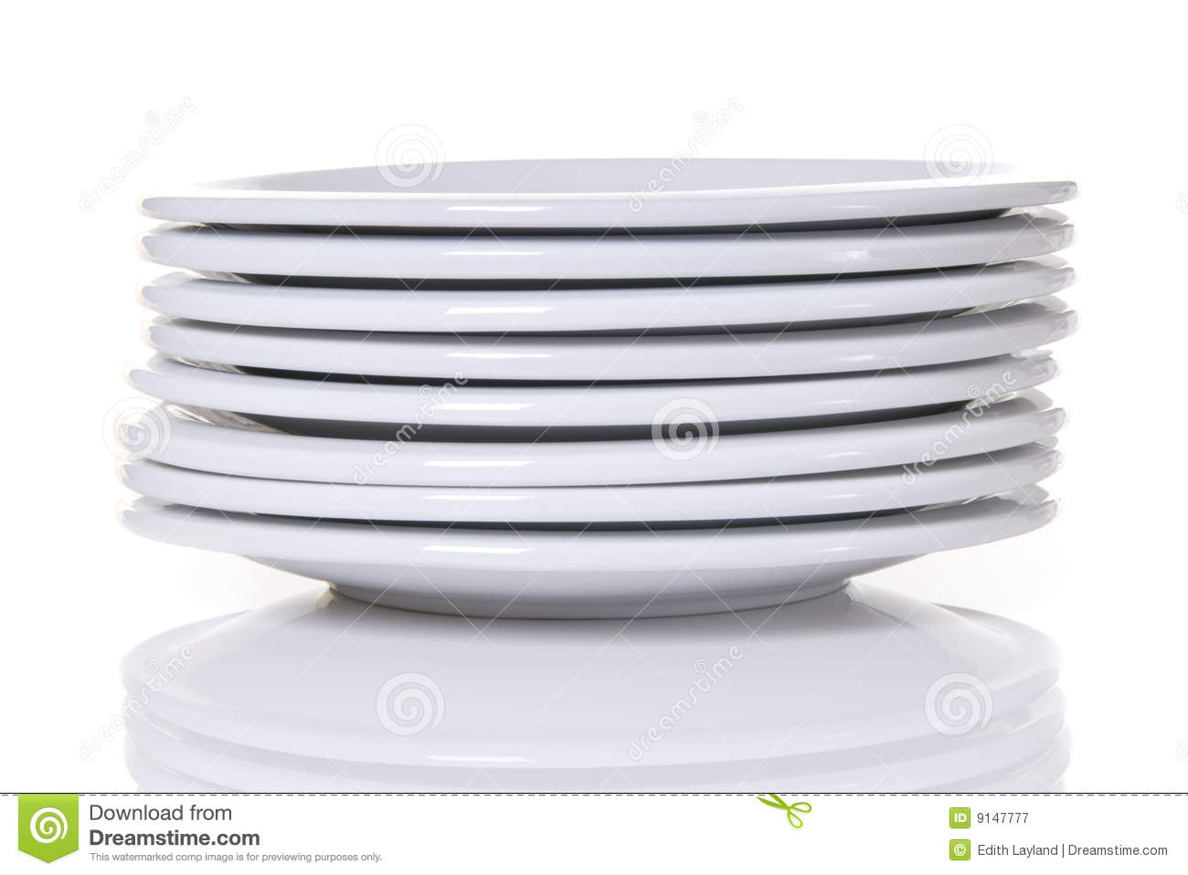 Royalty Free Stock Photography  Stack Of White Dinner Plates