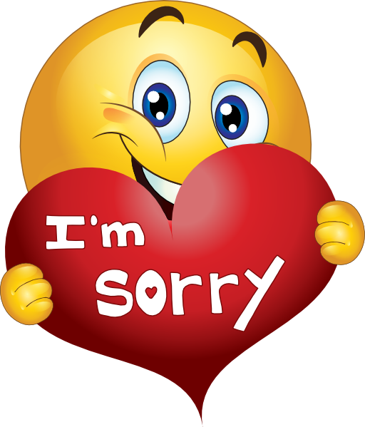 Sorry Clipart Sorry Boy Smiley Emoticon - Clipart Kid