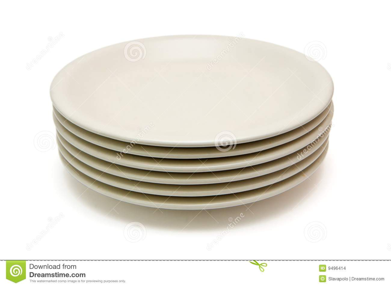 Stack Of Beige Dinner Plates Stock Images   Image  9496414