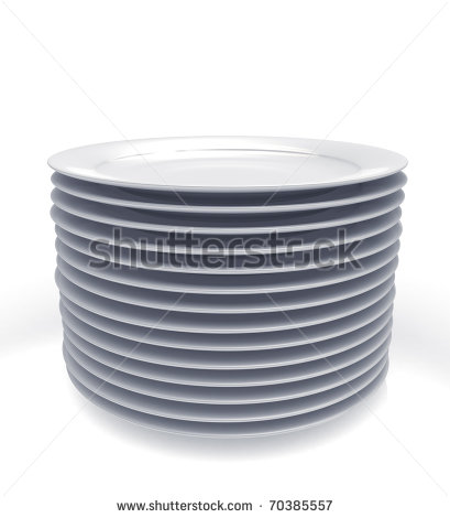 Stack Of Dinner Plates Clipart Stack Of Plates   Stock Photo