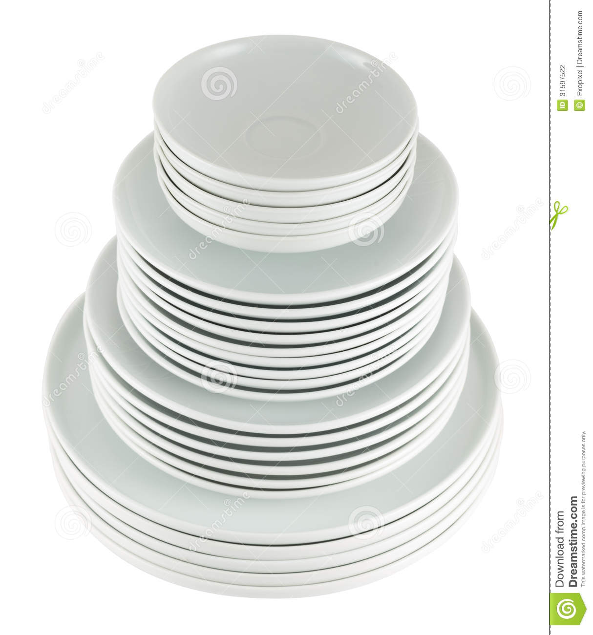 Stack Of Dishes Clipart Pile Of Clean White Dish