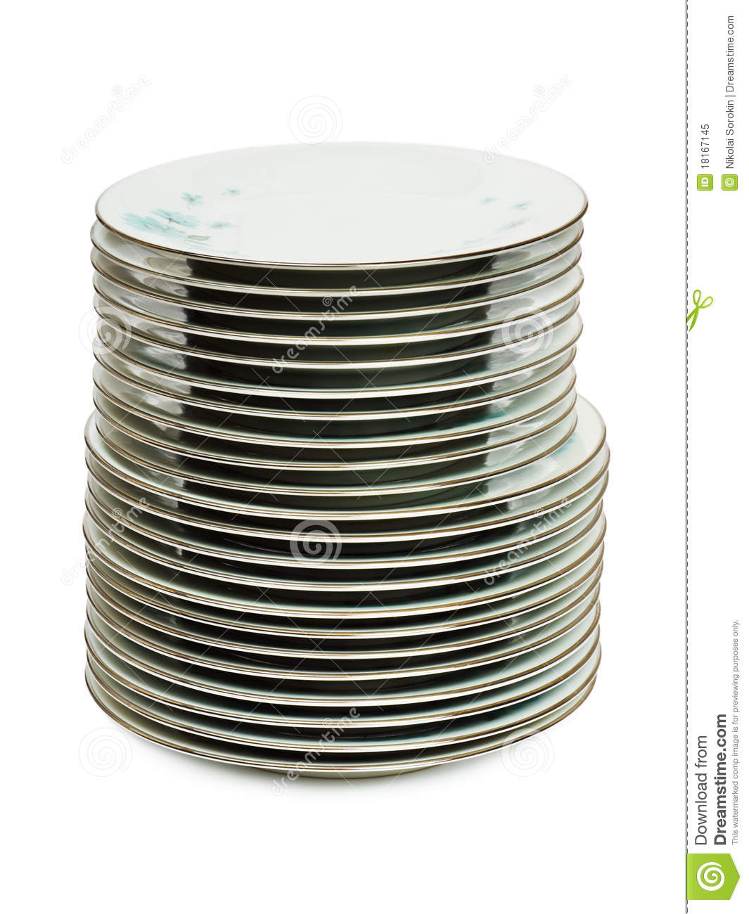 Stack Of Dishes Clipart Stack Of Plates Isolated On