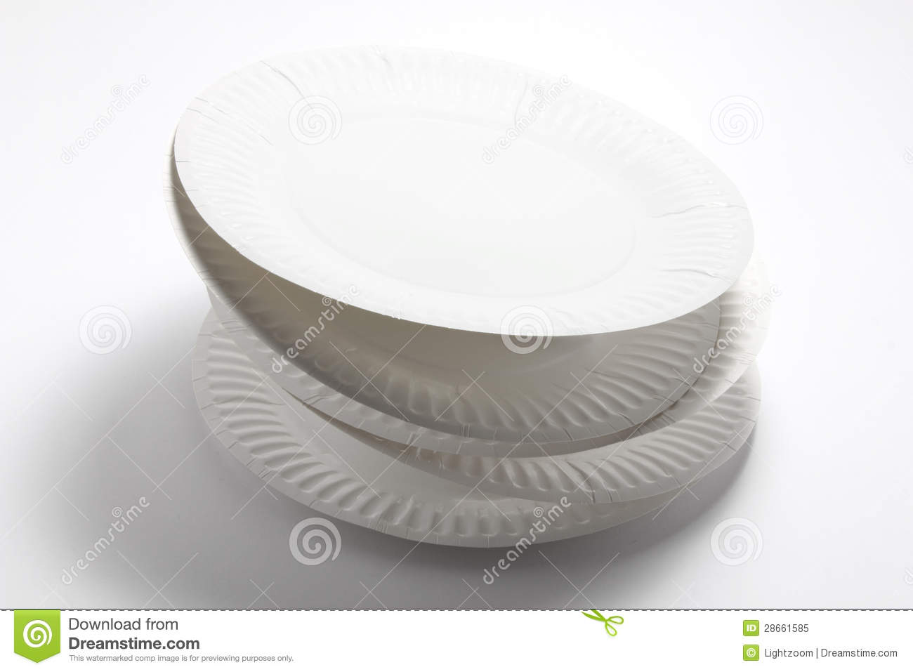 Stack Of Paper Plates Royalty Free Stock Photo   Image  28661585