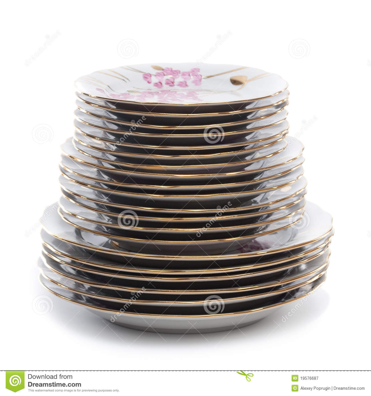 Stack Of Plates Royalty Free Stock Photography   Image  19576687