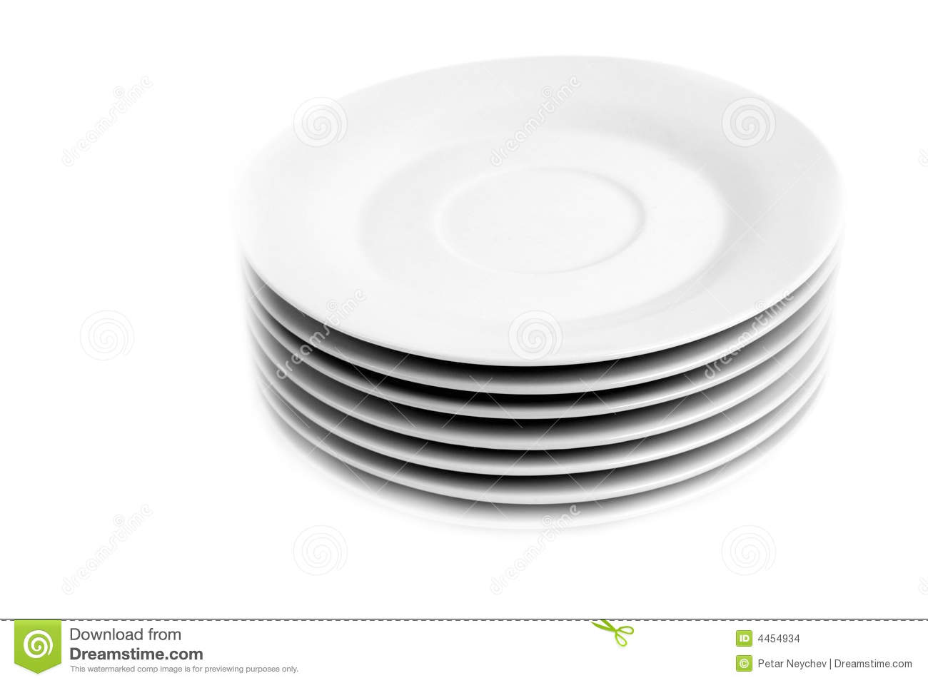 Stack Of Plates Stock Images   Image  4454934