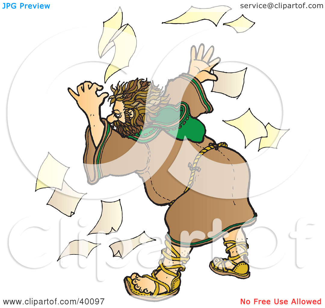 Unorganized Person Clipart Clipart Illustration Of A