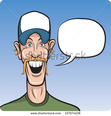 Vector Illustration Of Cartoon Smiling Man In Baseball Cap  Easy Edit