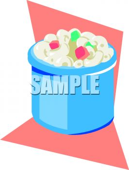 0511 1009 3012 1832 Small Crock Of Macaroni Salad Clipart Image Jpg