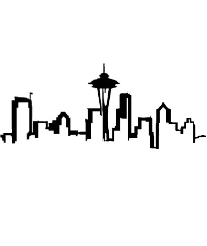 18 Seattle Skyline Outline Free Cliparts That You Can Download To You