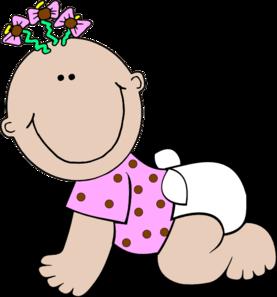 Clip Art Clipart Baby Girl new baby girl clipart kid polka dot clip art at clker com vector online