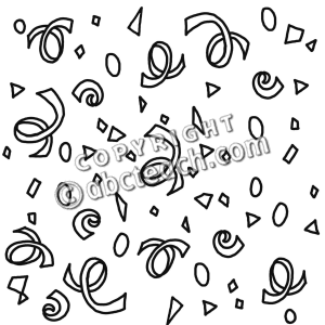 Clip Art  Confetti  B W    Party   Celebration   Holiday   Preview 1