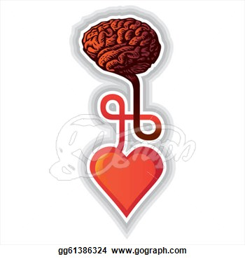 Clipart Human Heart Fighting With Brain Royalty Free Vector   Jobspapa