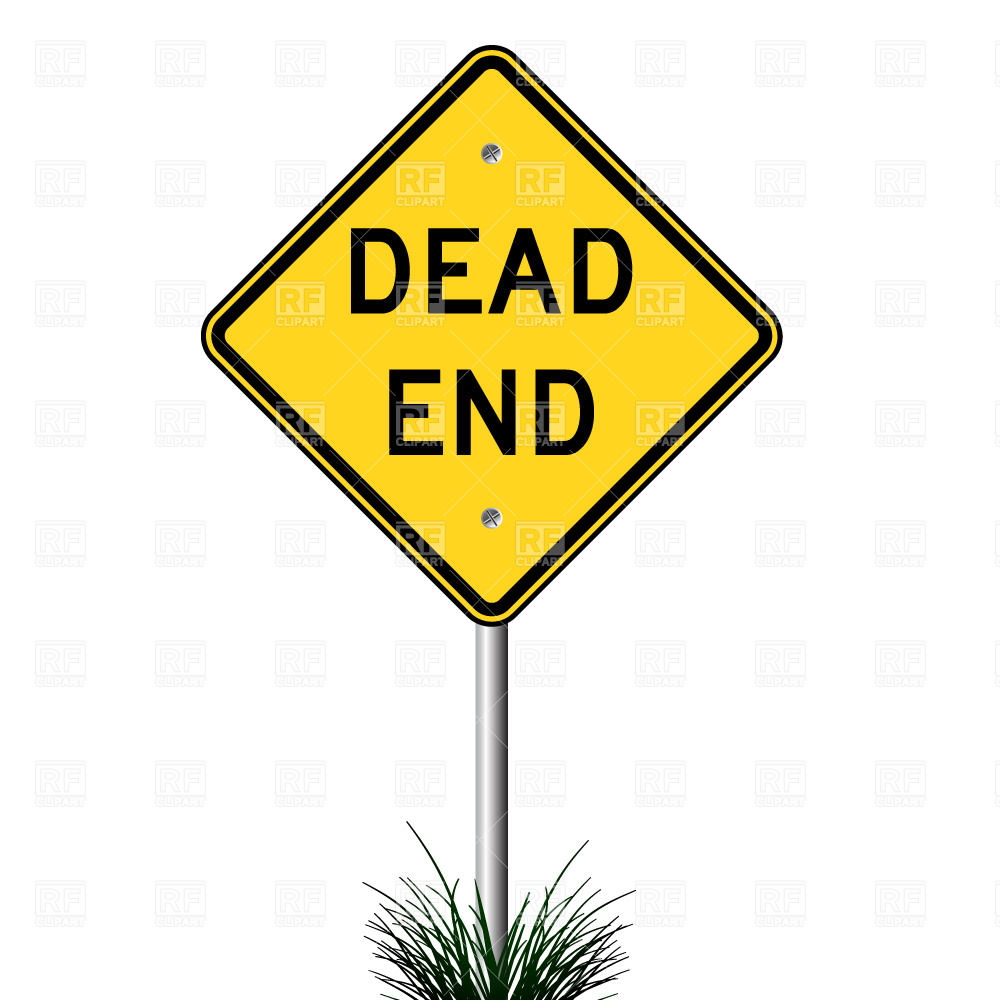 Dead End Sign 2699 Transportation Download Royalty Free Vector Clip