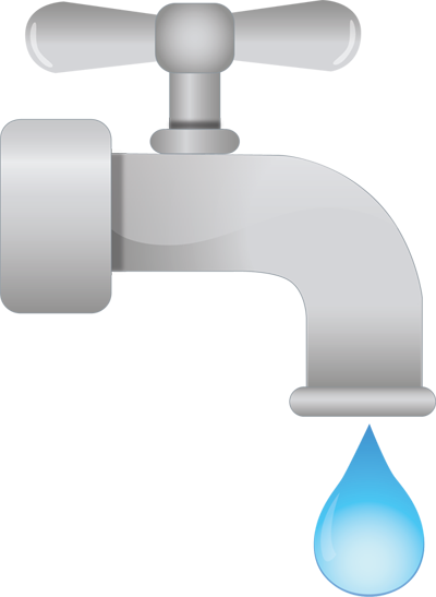 dripping faucet clip art - Leaking Faucet