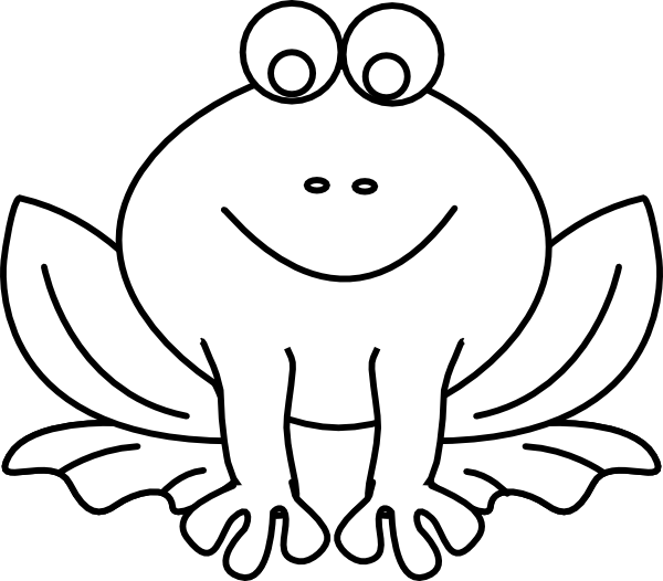 Frog Outline Clip Art At Clker Com   Vector Clip Art Online Royalty