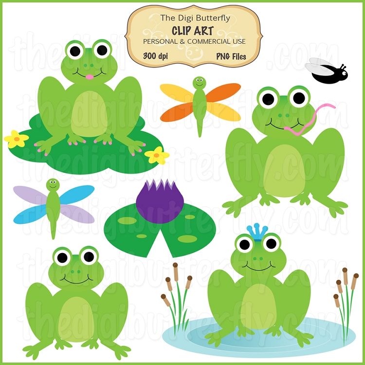 Frog Pond Clip Art Set