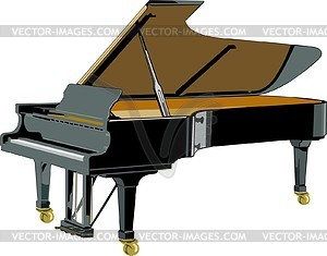Grand Piano   Vector Clip Art