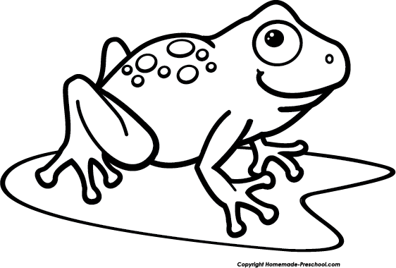 Home Free Clipart Frog Clipart Frog On Lily Pad