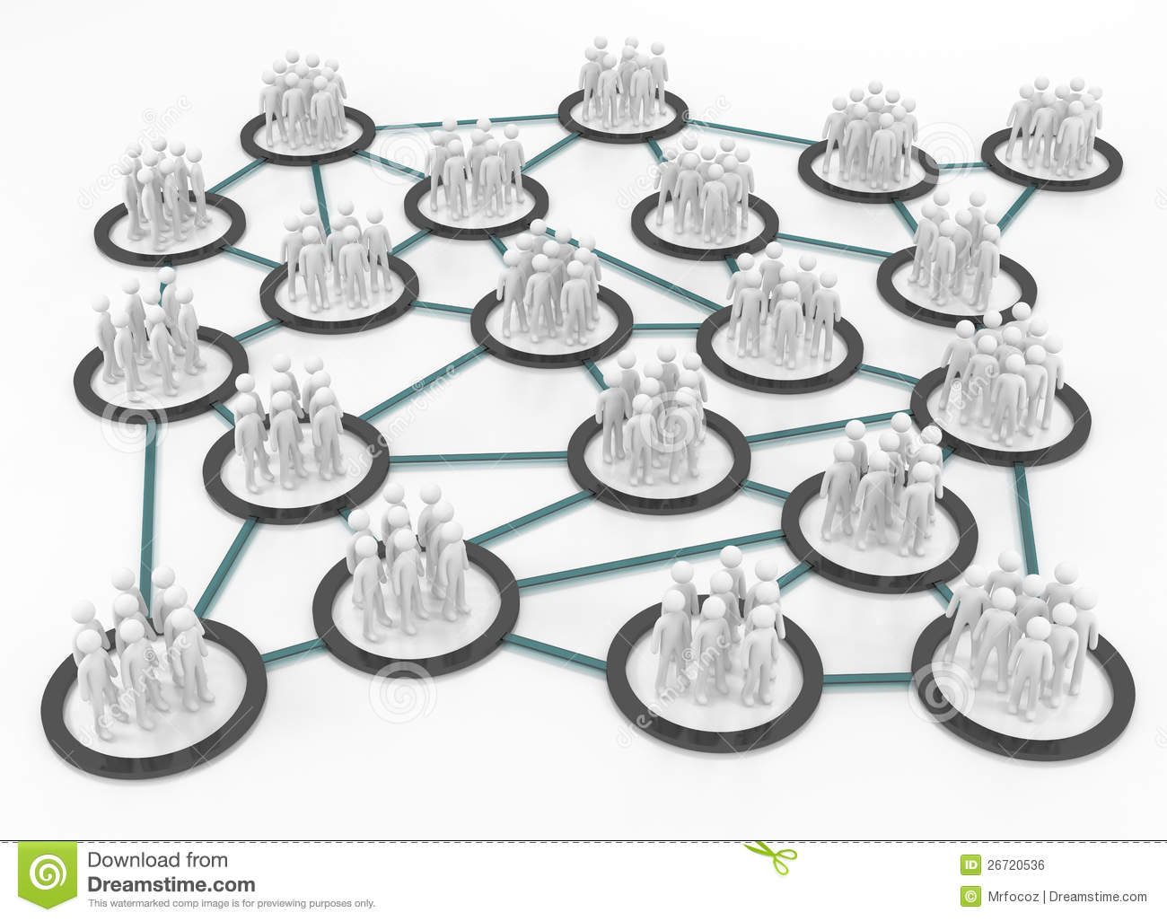 Human Network Connection On White Surface Royalty Free Stock Image
