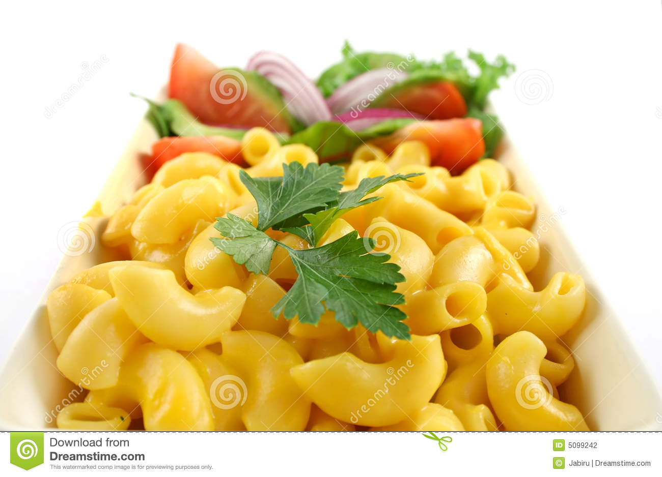 Macaroni Cheese And Salad Stock Photography   Image  5099242