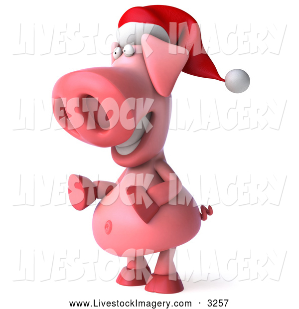 Related Pictures 3d Clip Art Of A 3d Christmas Teeny Santa With A