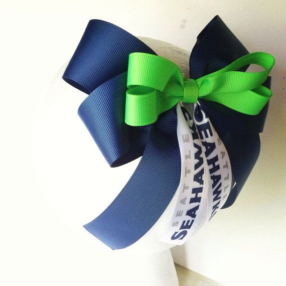 Seattle Seahawks Cheer Bow Clipart